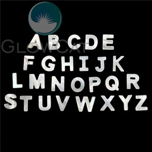 Image 1 - 26pcs Alphabet ABC For DIY Letter Shell Jewelry White Initial Hot Sale Letters A Z Natural Mother of Pearl Seashell Charms