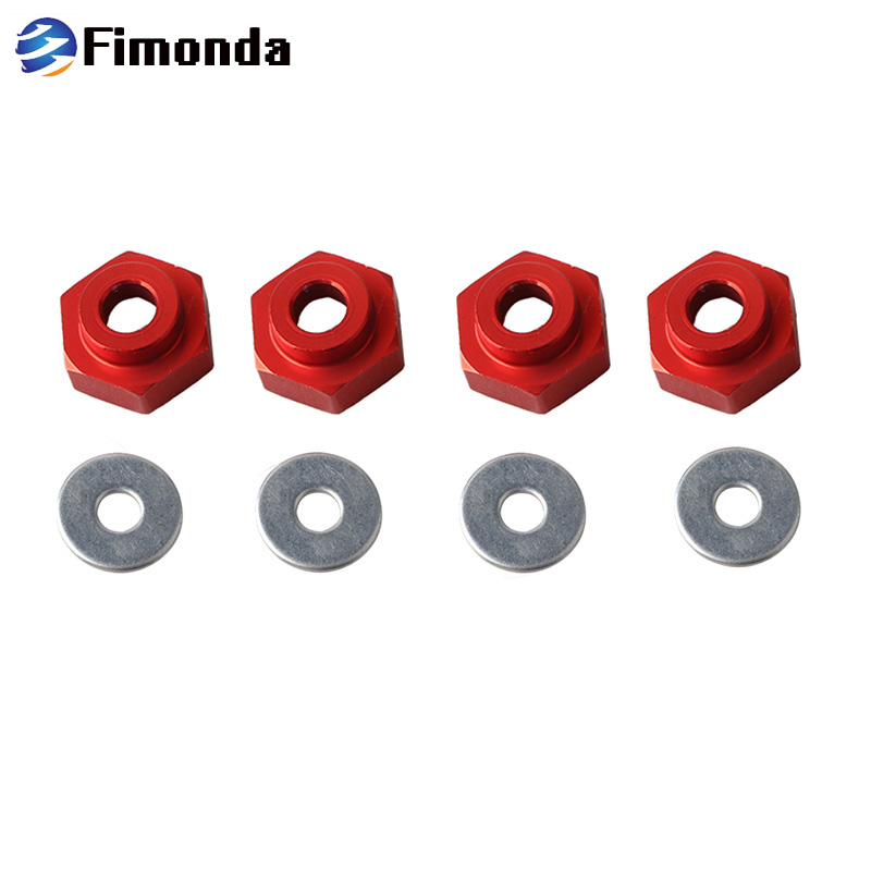 4Pcs 12mm to 17mm Hex Hub Wheel Adapters Extension 5mm for 1//10 1//8 RC Car Accs