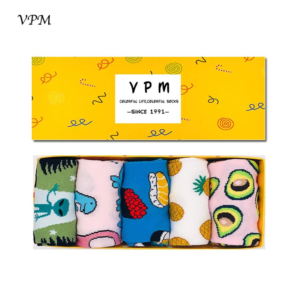 VPM Women\'s Dress Socks Colorful Cartoon Funny Dinosaur Alien Sushi ...