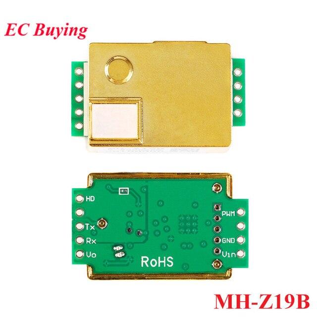 MH Z19 الأشعة تحت الحمراء وحدة استشعار CO2 MH Z19B غاز ثاني أكسيد الكربون الاستشعار عن CO2 رصد 0 5000ppm MH Z19B