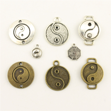 Charms For Jewelry Making Religious Taoism Gossip Tai Chi  Accessories Parts Creative Handmade Birthday Gifts