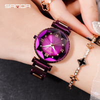 Female Stainless Steel Wristwatches 2019 Luxury Brand lady Crystal Watch Women sales hot Watch Fashion Rose Gold Quartz Watches