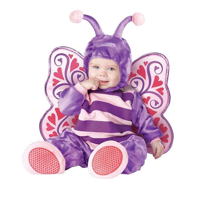 Joli Animal Halloween tenue bébé grandir infantile garçons filles bébé déguisement Cosplay Costume bambin papillon/éléphant/pingouin