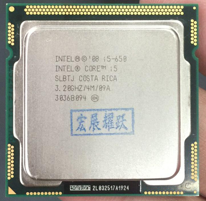 PC computer Intel Core <font><b>i5</b></font>-650 <font><b>i5</b></font> 650 Processor (4M Cache, 3.20 GHz) CPU <font><b>LGA</b></font> <font><b>1156</b></font> 100% working properly Desktop Processor image