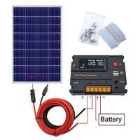 120 Вт 12 в панели солнечные комплект поли модуль W/20A зарядки контроллер RV лагерь вне сетки