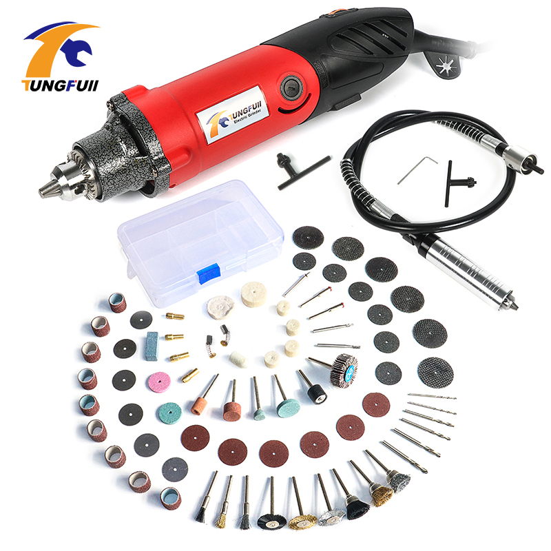 32000RPM 500W Mini Drill Electric Grinder Die Grinder More Power Full Strong Electric Drill Stone Ceramic Metal Abrasive Tools variable die grinder ceramic metal abrasive tools micro electric hand drill mini engraver with polishing tool electric drill