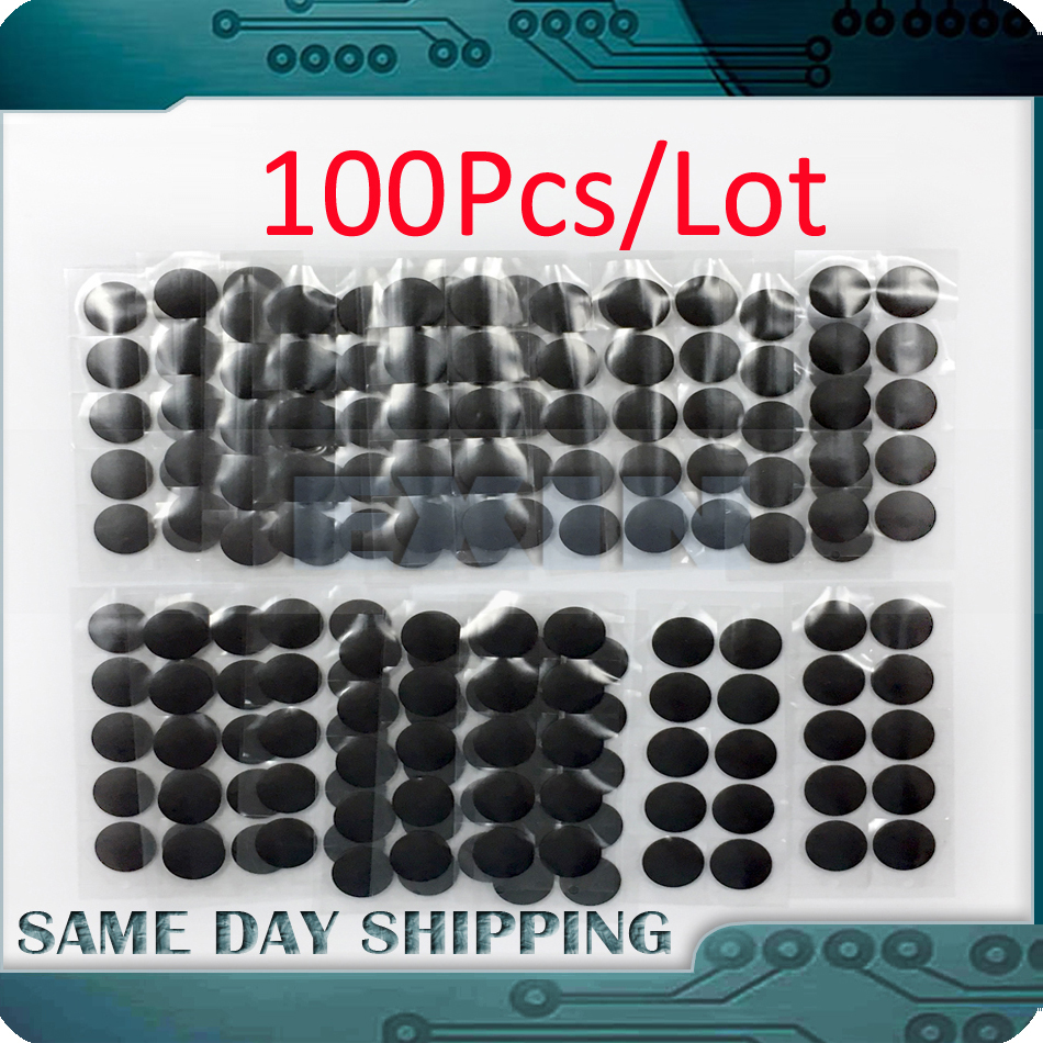 100Pcs/Lot Genuine NEW Laptop A1398 A1425 A1502 Bottom Case Cover Rubber Feet Foot for Macbook Pro Retina 13 15 2012-2015 Year genuine new for macbook pro retina a1502 a1398 a1425 13 15 rubber feet bottom case cover keyboard screws set repair tools