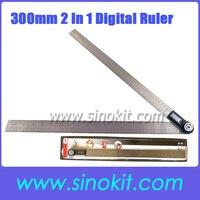 1000mm 2 in1 Digital Angle Finder Meter Protractor Goniometer Ruler 360' Measurer AR500