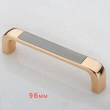 96 мм Мода Роскошная кухня ручка шкафа золото комод шкаф тянуть черный шкаф ящика мебель тянуть ручки