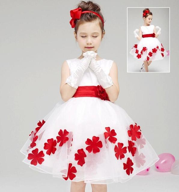 636186e49ccd 2 10Y kids frock designs solid Flowers girls party dress clothing ...