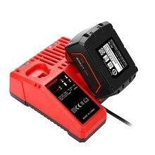 110-240 В литий-ионный Батарея Зарядное устройство для Milwaukee M12 M18 48-11-1815 48-11-1828 48-11-2401 48-11-2402 Бесплатная доставка