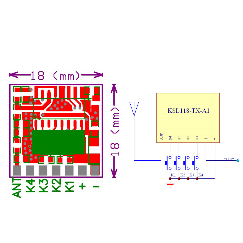 Image 5 - 30pcs 433 MHz RF Transmitter Superheterodyne Learning Code 1527 Encoding 433Mhz Remote Control Switch For Arduino Module DIY-in Remote Controls from Consumer Electronics