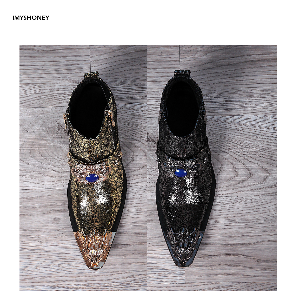Martin Boots Vintage Fashion Mens Wedding Dress Shoes Men Pointed Toe Slip on Luxury Casual Party Shoes Plus Size 37 46 fashion pointed toe lace up mens shoes western cowboy boots big yards 46 metal decoration