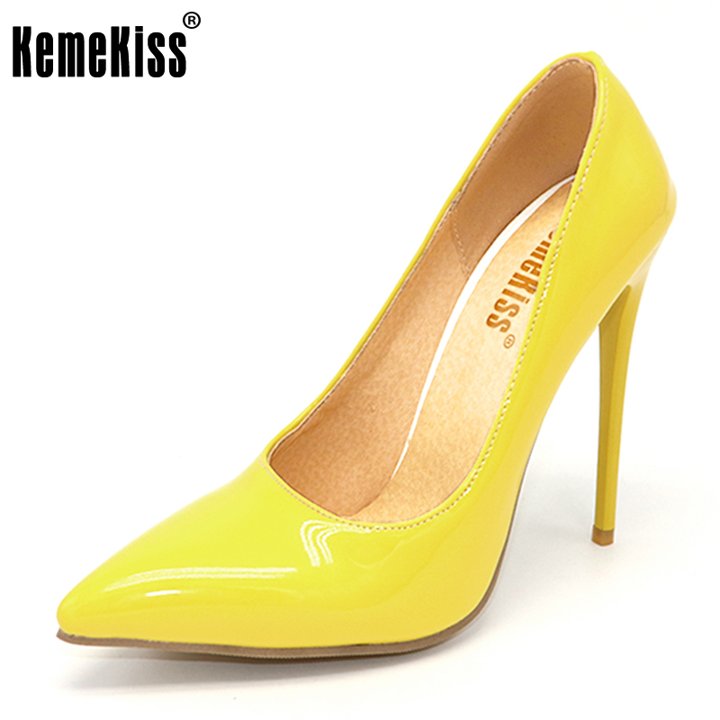 KemeKiss Size 34-47 Spring Big Size Women heel Pumps Sexy Pointed Toe Thin High Heels Shoes Woman Design Wedding Party Shoes