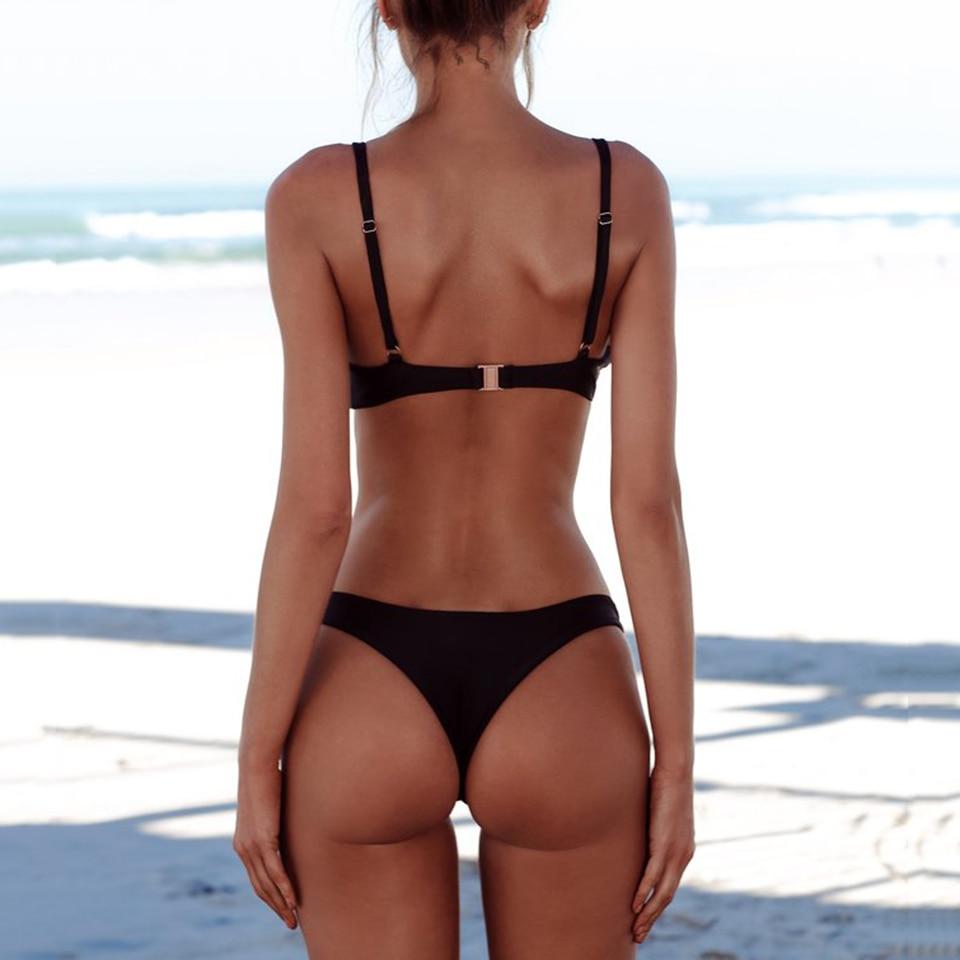 COSPOT Bikini 2019 Sexy Women Swimwear Brazilian Bikini Push Up Swimsuit Solid Beachwear Bathing Suit Thong COSPOT Bikini 2019 Sexy Women Swimwear Brazilian Bikini Push Up Swimsuit Solid Beachwear Bathing Suit Thong Biquini Bikini Set