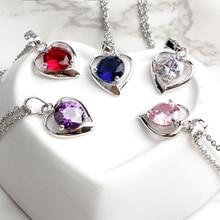 FINE4U N020 316L Stainless Steel Heart Pendant Necklace