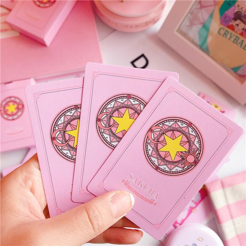 2 Kinds Anime 54 pcs Cosplay Cards Captor Sakura Tarot with Clow Cards Poker Gift Playing Cards 11