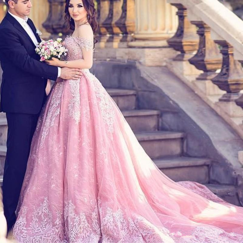 Lace Ball Gown Engagement Dresses Off Shoulder Applique Lace,Up Party Gown  Evening Dress Glamorous Saudi Arabia Prom Dresses