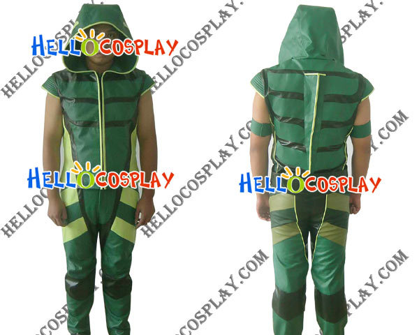 Smallville Green Arrow Costume Cosplay H008