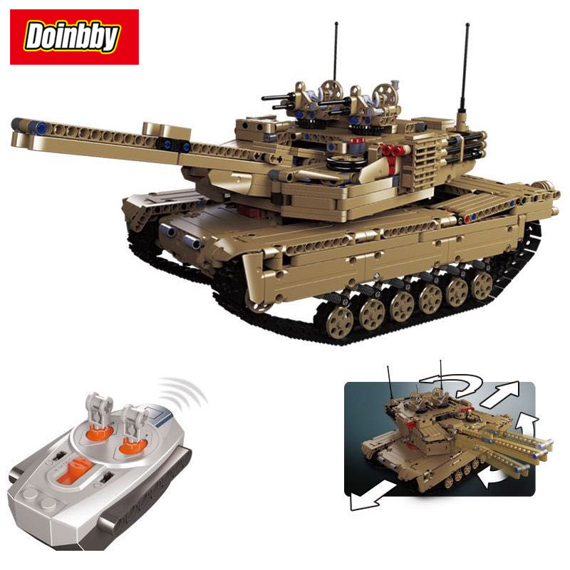 Technic Series SWAT Military War Remote Control RC Tank Set 2 IN 1 Building Block Brick Toys 1572Pcs Kid Gift 1572pcs moc technic the remote control rc tank military war assembly building block brick toy for boys christmas gift 20070