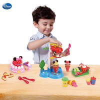 Disney Learning Education slime Mickey Style Ice Cream Set Children Color Mud Plastic Super Light Clay Toy for children