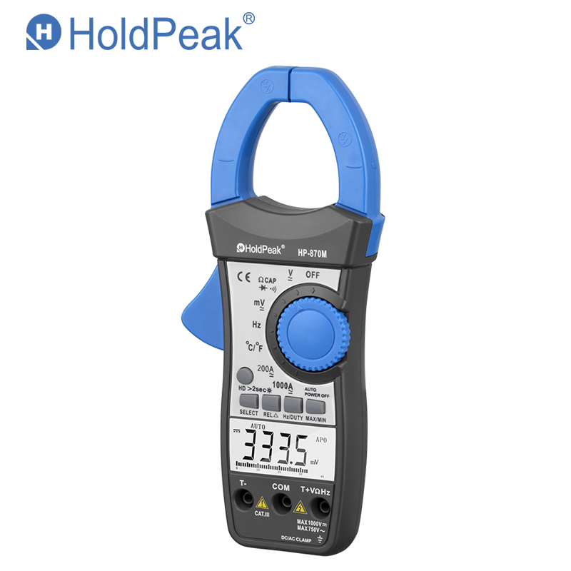 Holdpeak HP-870M Digital Clamp Meter 3999 Counts DC AC Voltage Current Resistance Back Light & Data Hold Multimeter Diode Tester цена и фото