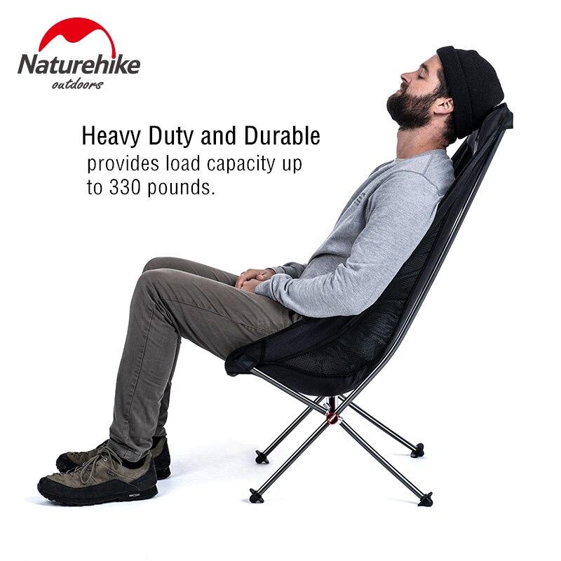 Chaise de pique-nique de pêche pliante extérieure portative légère compacte de naturetrekking plier la chaise de plage siège de chaise de Camping pliable - 4