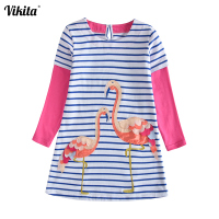vikita-brand-girls-dress-sequined-girls-flamingo-frocks-kids-princess-tutu-dress-children-cartoon-long-sleeve-dresses-lh4575