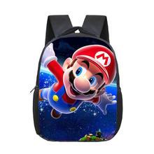 12 cali śliczne Mochila Super Mario torba szkoła dla chłopców Bookbag plecak dla dzieci Super Mario torba dziecięca dla dziewczynek Infantil Menina tanie tanio DDAYXXUAN Nylon zipper Stałe 1122 Chłopcy 16inch 0 8kg 26inch Torby szkolne 33inch