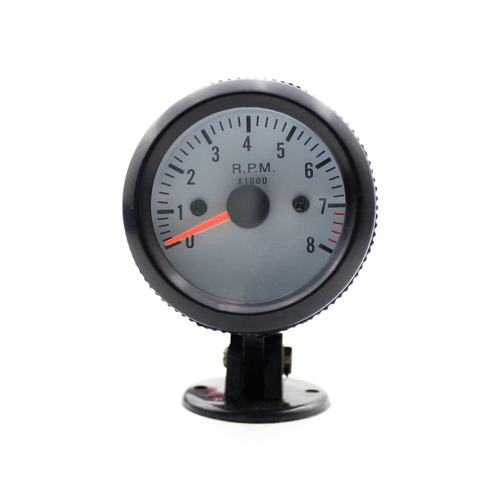 Led Auto Gauges : Oto r mm black auto ᗑ gauge tachometer rpm