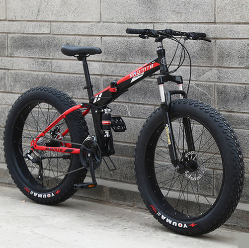Новый бренд X-Front 24/26 4,0 колесо для полных шин 7/21/24/27 скоростной четырехканальный мягкий задний каркас складной горный велосипед Горный горны...