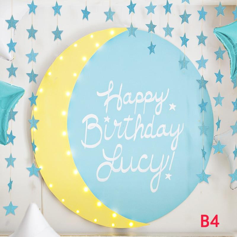 2 kom Lenth 4m veličina 7cm papira plava zvijezda Garland strnadica - Za blagdane i zabave - Foto 5