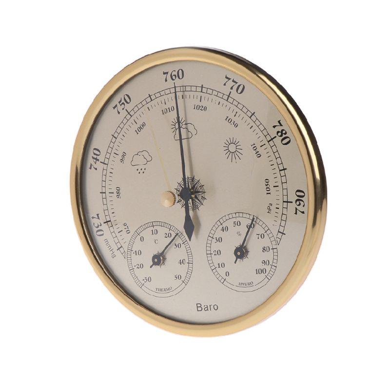 160 мм атмосферное давление Температура гигрометр Метеостанция три в одном барометр пленка металлическая коробка барометр