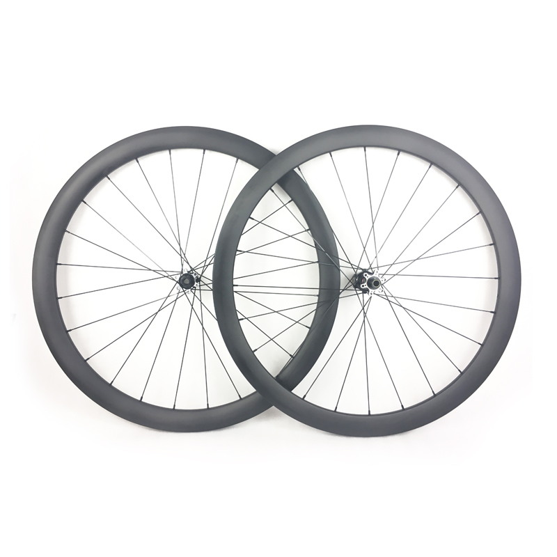 1330g 700C 42mm tubeless asymmetric road disc bicycle carbon wheelset width 25mm cyclo cross road bike