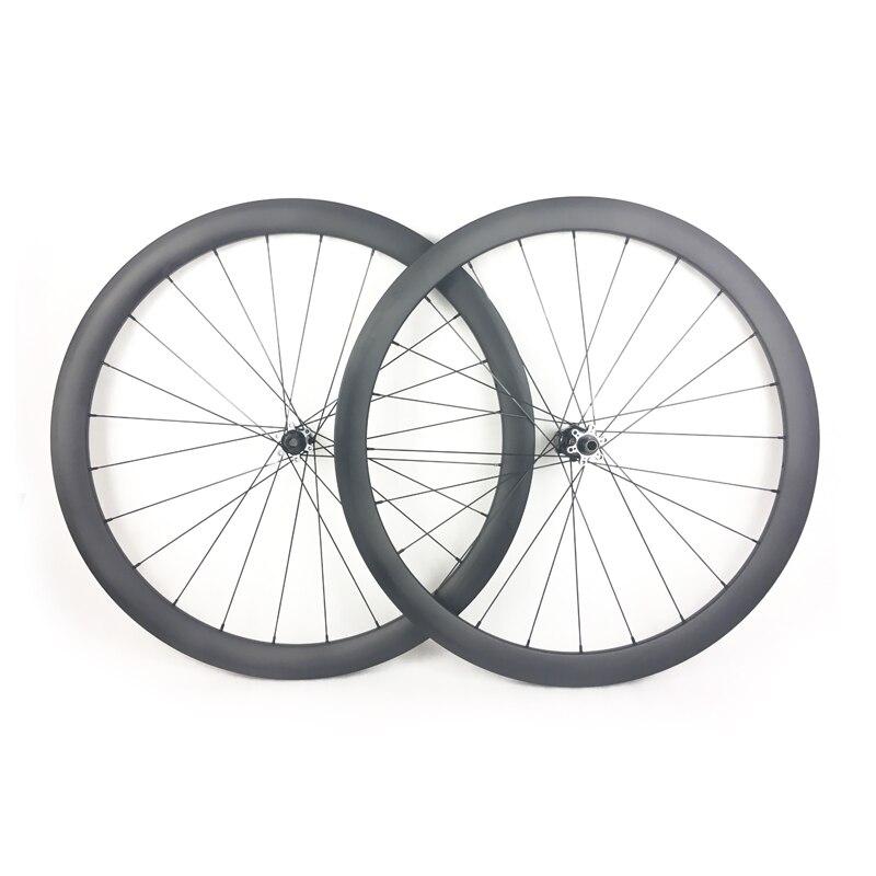 1330 グラム 700C 42 ミリメートルチューブレス非対称道路自転車カーボンホイールセット幅 25 ミリメートルシクロクロスロードバイクカーボンホイール  グループ上の スポーツ & エンターテイメント からの 自転車の車輪 の中 1