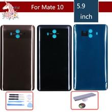 цены 10pcs/lot For Huawei Mate 10 ALP-L09 ALP-L29 ALP-AL00 Battery Cover Back Housing Rear Door Case Battery Cover Panel Replacement