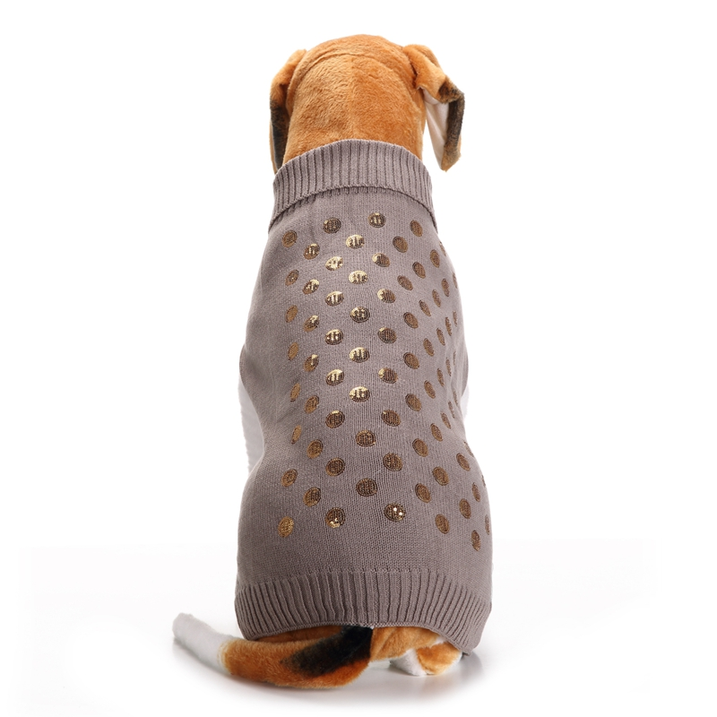 Gray Small Large Dog Clothes Chihuahua Pet Cat Knitwear Dog Sweater Puppy Warm Coat Chea ...