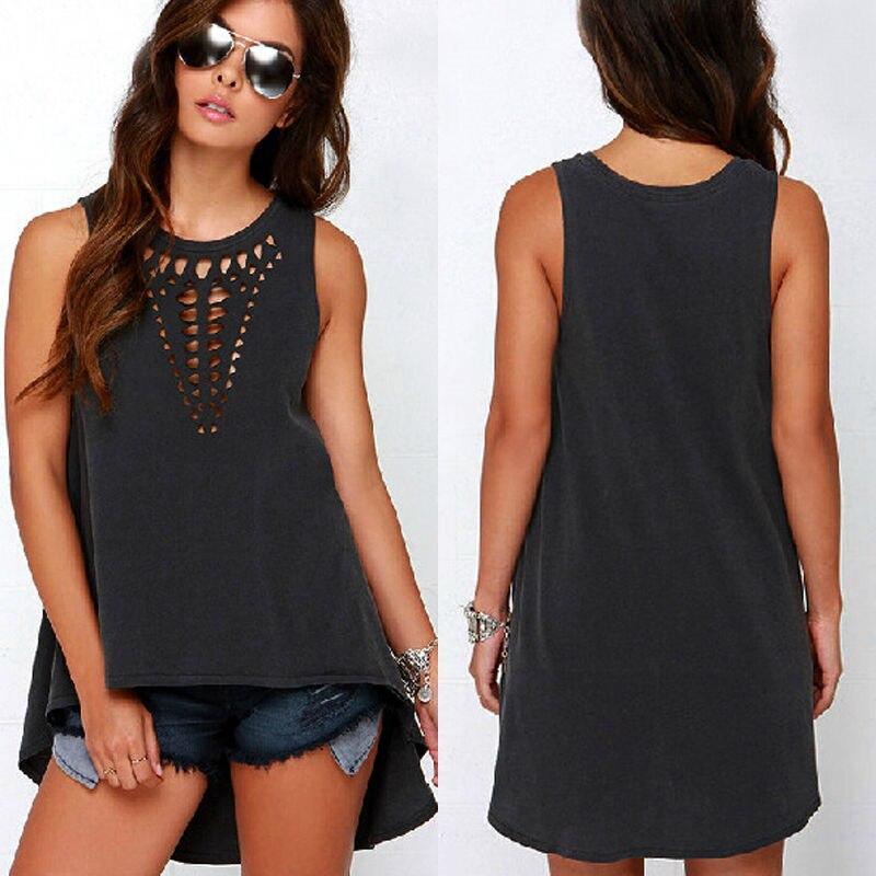 Fashion 2XL XXXL Plus Size Summer Women Blouses Tops Women Clothing New Ladies Blouses Blusas Femininas Black Sleeveless Blouse