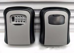 Image 2 - Caja de Seguridad para llaves de aleación de aluminio montada en la pared caja de seguridad para llaves, resistente a la intemperie, combinación de 4 dígitos, caja de almacenamiento para llaves para interiores y exteriores