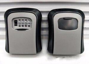 Image 2 - Porta chaves, porta chaves, parede, liga de alumínio, cofre chaves, resistente às intempéries, 4 dígitos, chave combinada, fechadura de armazenamento, caixas interior, ar livre