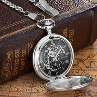 Pocket Watch With Chain Fullmetal Alchemist Steampunk Ouyawei Mechanical Pocket Watches Men Watch Game Of Thrones