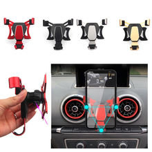 Gravity Air Vent Car Mount Holder For Audi A3 S3 Above 2014 Cradle Bracket for iPhone Samsung Huawei Mobile phone GPS Stand