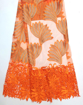 Latest  Swiss Design Nigeria French Lace Fabric High Quality African Tulle Lace Fabric For Nigeria Wedding