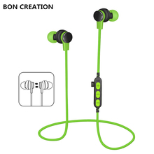 BON CREATION Bluetooth earphone high fidelity stereo earphone super bass smartphone music sport earphone for Iphone Samsung