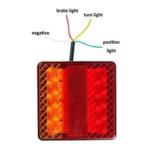 Image 2 - 1 pièce 12 v lumière LED de remorque camion léger camion camping voiture accessoire arrêt arrière frein indicateur de direction feu de position arrière