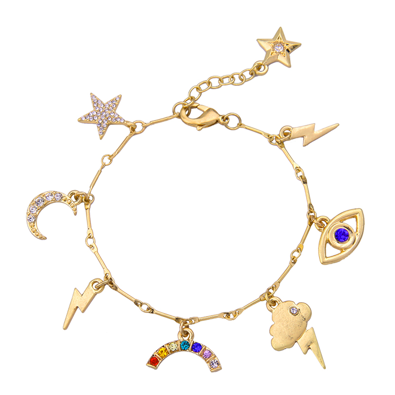 Hot Ing Childlike Star Moon Thunder Accessories Lovely Bracelet For S Christmas Gift Whole Factory Price In Charm Bracelets From Jewelry