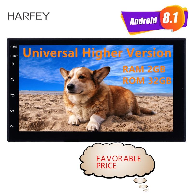Harfey RAM 2GB+ ROM 32GB GPS autoradio 2Din Universal 7inch Android 8.1 Multimedia Unit Player For VW Nissan Kia radio Car Radio