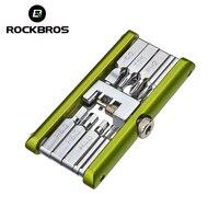 ROCKBROS Bicycle Repair Tools 14 In 1 Multifunction Tools Mini Repair Folding Bicycle Mountain Road Bike