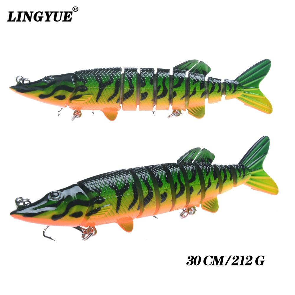 New Arrival 1pcs 13 Sections Multi Jointed Fishing Lure 30cm/190g Swim-bait Wobblers Fishing bait Lifelike Carp Fishing Tackle