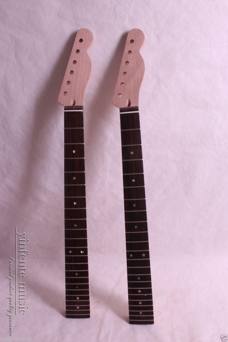 Two Electric Guitar Neck Solid wood Truss rod 22 fret 25.5inch New 1 pcs electric guitar neck maple wood fretboard truss rod 21 fret stripes maple neck the truss at the head